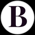 Circle banner letter B