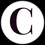 Circle banner letter C
