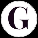 Circle banner letter G
