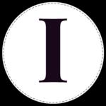 Circle banner letter I