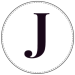 Circle banner letter J