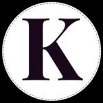 Circle banner letter K