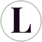 Circle banner letter L