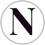 Circle banner letter N
