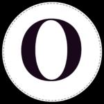 Circle banner letter O