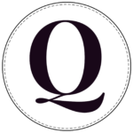 Circle banner letter Q