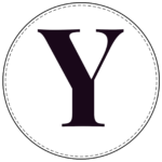 Circle banner letter Y