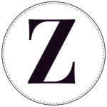 Circle banner letter Z