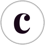 Lowercase circle banner letter c