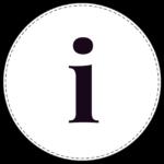 Lowercase circle banner letter i