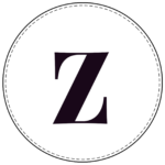 Lowercase circle banner letter z