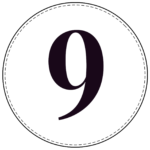 Circle banner number