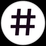 Circle banner symbol # hash tag