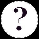 Circle banner symbol ? question mark