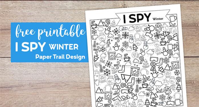 Free Printable I Spy Winter Activity