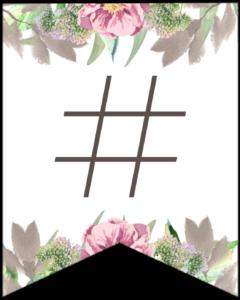 Symbol # free printable floral banner flag.