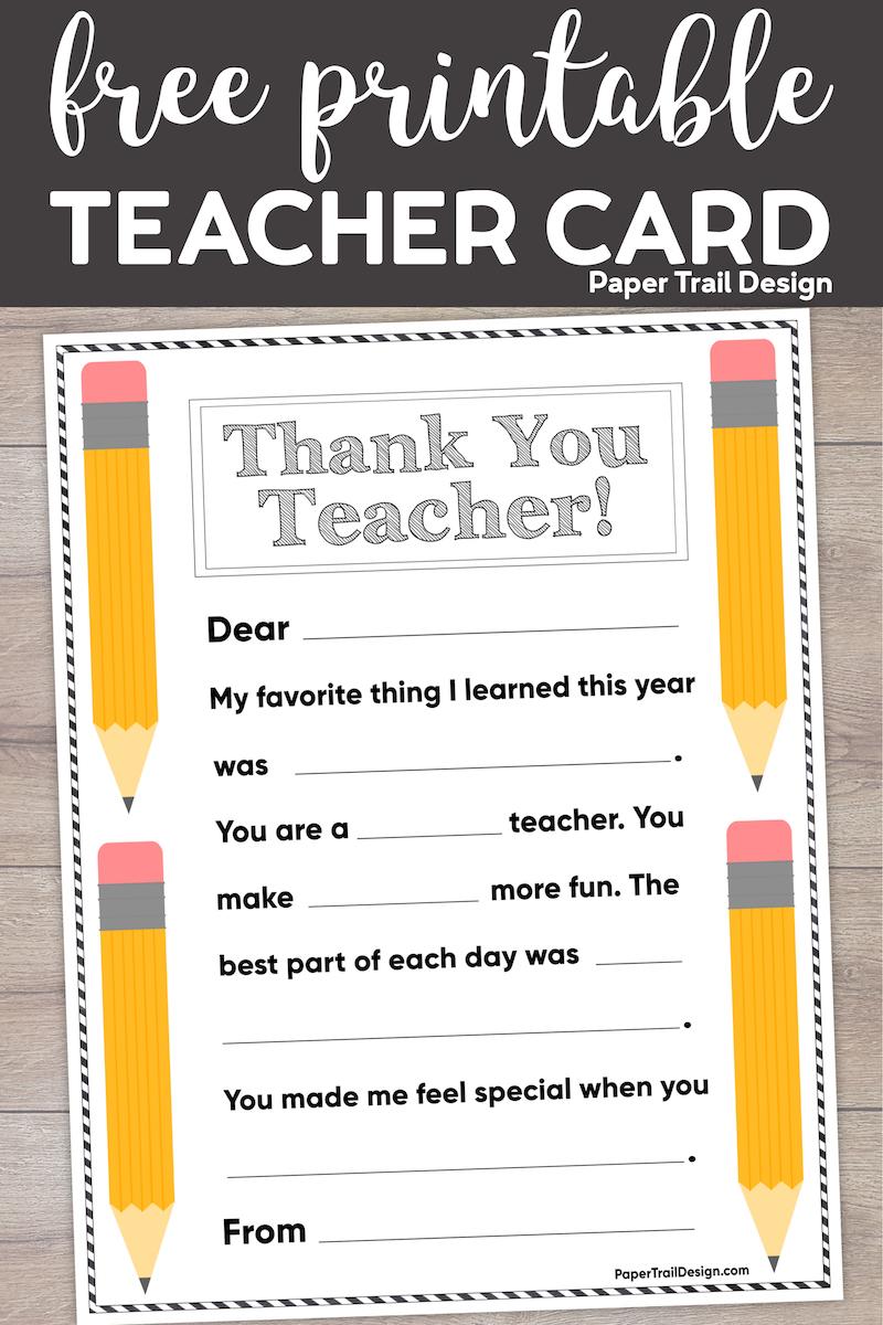 Target Arrow Bullseye Card Educator PRINTABLE Teacher Thank You With Regard To Thank You Card For Teacher Template