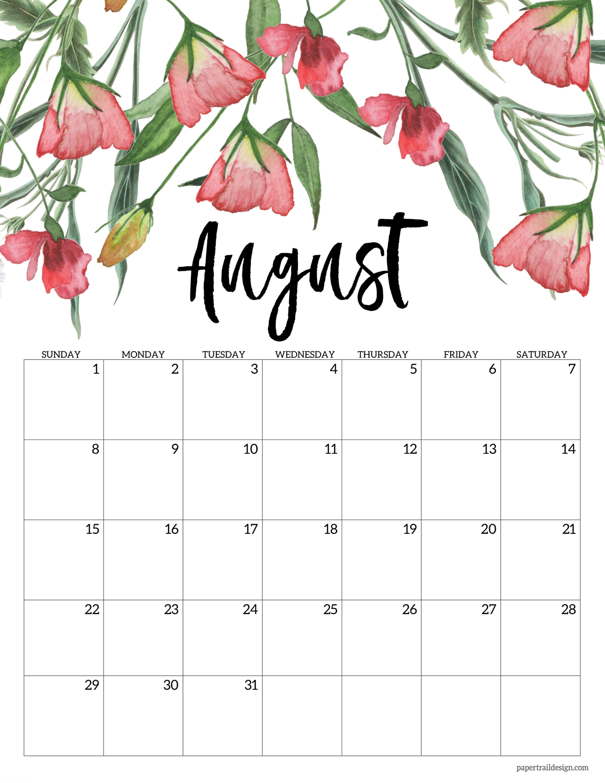 Photos of 2021 Calendar Printable August