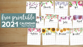 2021 printable calendar pages from January to December with text overlay free printable 2021 calendar