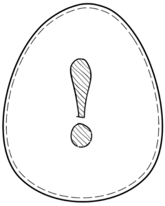 Printable Easter egg with symbol ! on it