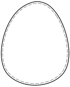 Printable Easter egg - blank