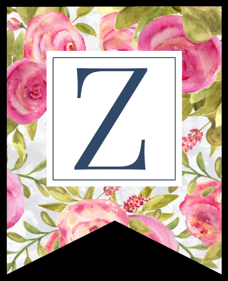 Free Printable Floral Banner Letters | Paper Trail Design