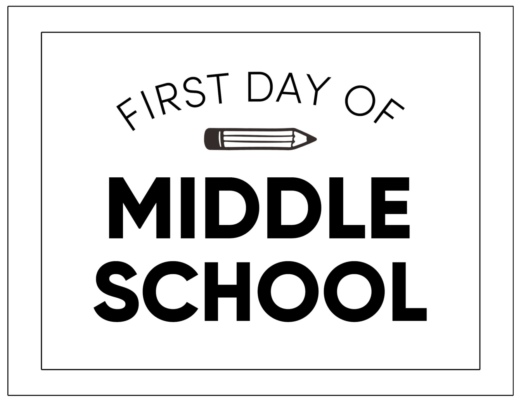 Printable First Day of School Signs | Paper Trail Design
