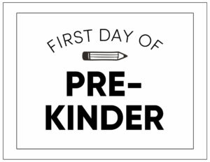 First day of pre-kinder sign
