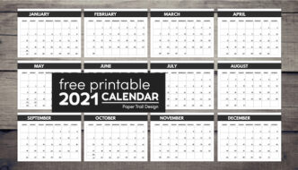 Free monthly calendar 2021 with text overlay- free printable 2021 calendar
