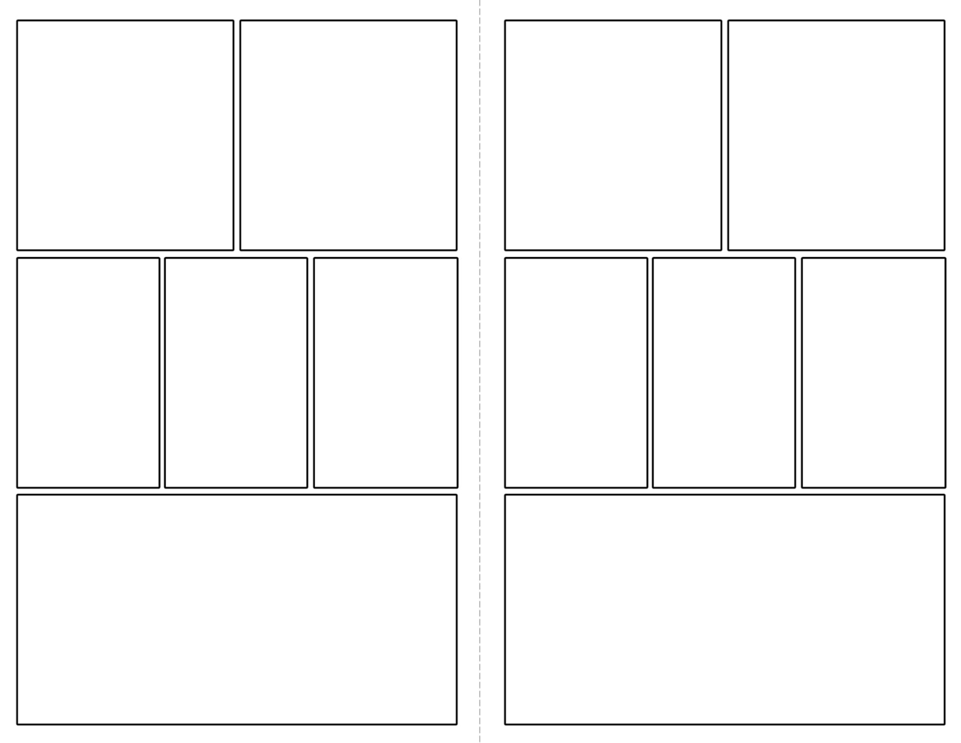 Free Printable Comic Strip Template Pages Paper Trail Design