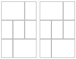 Comic book panel template