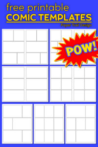 Comic book strip template with text overlay- free printable comic templates