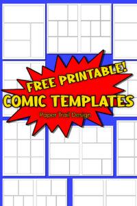 Blank comic strip printable with text overlay- free printable comic templates