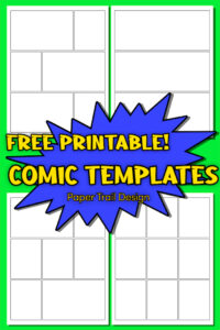 Printable comic book template pages with text overlay- free printable comic templates