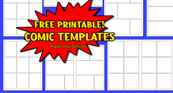 Printable comic strip template pages with text overlay- free printable comic templates