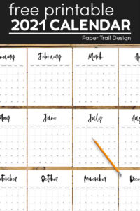 free printable 2021 calendar pages with pencil with text overlay- free printable 2021 calendar