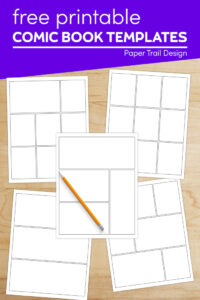 Free printable comic book templates with pencil with text overlay- free printable comic book templates