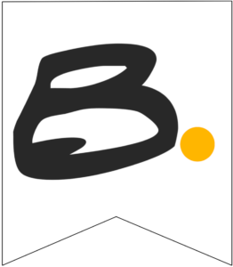 Letter B Friends themed Banner Letter with yellow dot