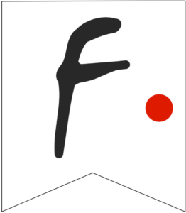 Letter F Friends themed Banner Letter with red dot