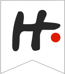 Letter H Friends themed Banner Letter with red dot