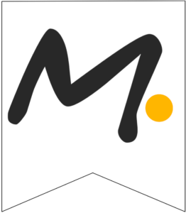 Letter M Friends themed Banner Letter with yellow dot