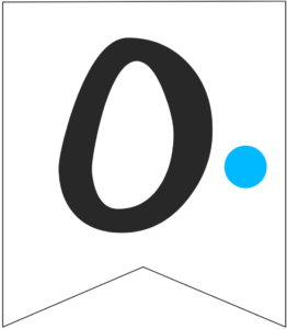 Letter O Friends themed Banner Letter with blue dot
