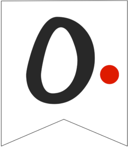 Letter O Friends themed Banner Letter with red dot