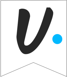 Letter U Friends themed Banner Letter with blue dot