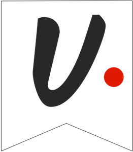 Letter U Friends themed Banner Letter with red dot
