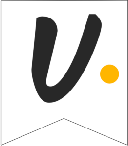 Letter U Friends themed Banner Letter with yellow dot