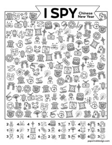 Printable I Spy Chinese New Year activity for kids