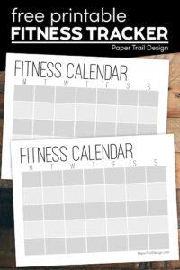printable workout log with text overlay- free printable fitness tracker