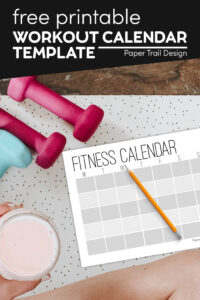 Workout log sheets with weights with text overlay- free printable workout calendar template