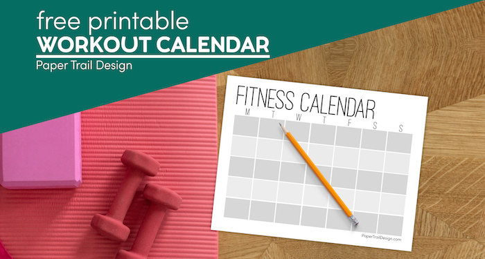 Free Printable Workout Calendar Template Paper Trail Design